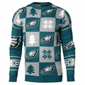 Philadelphia Eagles Patches NFL Ugly Crew Neck Sweater by Forever Collectibles