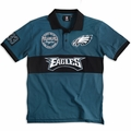 Philadelphia Eagles NFL Cotton Wordmark Rugby Short Sleeve Polo Shirt