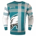 Philadelphia Eagles Men's Plaid Crew Neck NFL Ugly Sweater