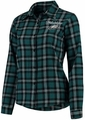 Philadelphia Eagles NFL 2016 Women's Wordmark Long Sleeve Flannel Shirt