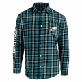Philadelphia Eagles Wordmark Mens Long Sleeve Flannel Shirt
