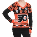 Philadelphia Flyers Big Logo (Women's V-Neck) NHL Ugly Sweater