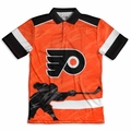 Philadelphia Flyers NHL Polyester Short Sleeve Thematic Polo Shirt
