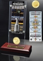 Pittsburgh Penguins 5-Time Stanley Cup Champions Ticket & Bronze Coin Acrylic Desk Top