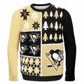 Pittsburgh Penguins NHL Ugly Sweater BusyBlock
