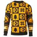 Pittsburgh Steelers Patches NFL Ugly Crew Neck Sweater by Forever Collectibles