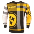 Pittsburgh Steelers Men's Plaid Crew Neck NFL Ugly Sweater
