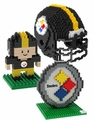 Pittsburgh Steelers NFL 3D BRXLZ Puzzle Set By Forever Collectibles