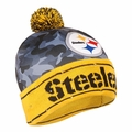 Pittsburgh Steelers NFL Camouflage Light Up Printed Beanies