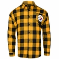 Pittsburgh Steelers NFL Checkered Men's Long Sleeve Flannel Shirt
