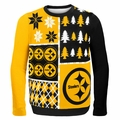 Pittsburgh Steelers NFL Ugly Sweater Busy Block