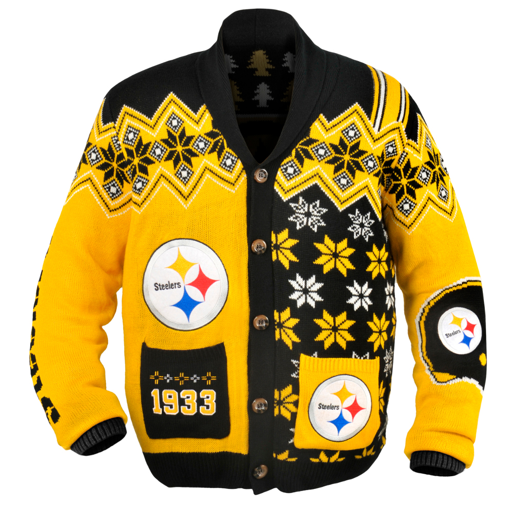 Pittsburgh Steelers NFL Ugly Sweater Cardigan