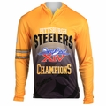 Pittsburgh Steelers Super Bowl XIV Champions Poly Hoody Tee