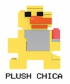 Plush Chica (Five Nights at Freddy's) Series 2 8-Bit Buildable Figure