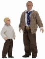 "Ralphie and His Dad (A Christmas Story) Complete set (2) 8"" Scale Clothed Figure by NECA"