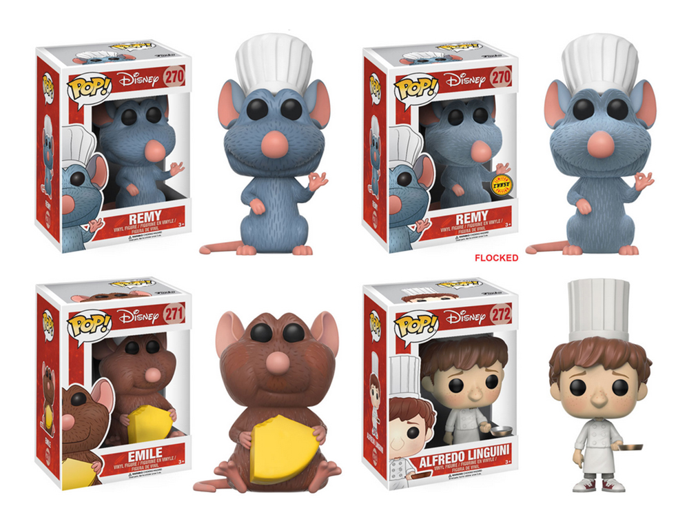 Ratatouille Complete Set W Chase 4 Funko Pop