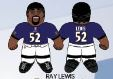 """Ray Lewis (Baltimore Ravens) 24"""" NFL Plush Studds by Forever Collectibles"""