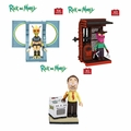 Rick And Morty Micro Set Complete Set (3) McFarlane Construction Set