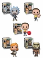 Rick and Morty Series 4 Complete Set w/ Chase (5) Funko Pop!