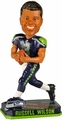 Russell Wilson (Seattle Seahawks) Forever Collectibles 2014 NFL Springy Logo Base Bobblehead