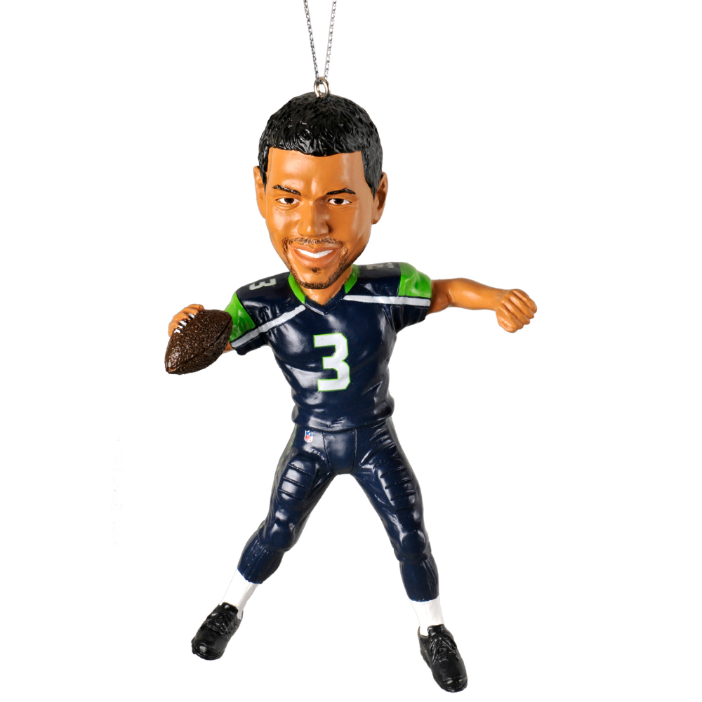 Football player ornament - Russell Wilson Seattle Seahawks Forever Collectibles Nfl Player Ornament