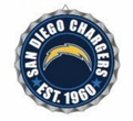 San Diego Chargers NFL Wall Decor Bottlecap Collection by Forever Collectibles