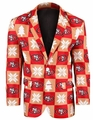 San Francisco 49ers NFL Ugly Business Sport Coat Repeat Logo by Forever Collectibles