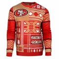 San Francisco 49ers Patches NFL Ugly Sweater by Klew