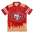 San Francisco 49ers NFL Polyester Short Sleeve Thematic Polo Shirt