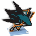 San Jose Sharks NHL 3D Logo BRXLZ Puzzle By Forever Collectibles