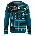 San Jose Sharks NHL Patches Ugly Sweater  by Klew