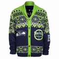 Seattle Seahawks NFL Ugly Sweater Cardigan