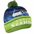Seattle Seahawks NFL Camouflage Light Up Printed Beanies