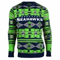Seattle Seahawks Aztec NFL Ugly Crew Neck Sweater