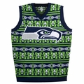 Seattle Seahawks Aztec NFL Ugly Sweater Vest