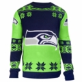 Seattle Seahawks Big Logo NFL Ugly Sweater