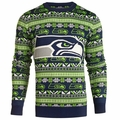 Seattle Seahawks NFL Aztec Ugly Crew Neck Sweaters by Forever Collectibles