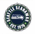 Seattle Seahawks NFL Wall Decor Bottlecap Collection by Forever Collectibles