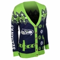 Seattle Seahawks NFL Women's Cardigan Ugly Sweater