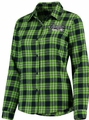 Seattle Seahawks NFL 2016 Women's Wordmark Long Sleeve Flannel Shirt