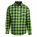 Seattle Seahawks Wordmark Mens Long Sleeve Flannel Shirt