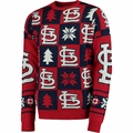 St. Louis Cardinals Patches MLB Ugly Crew Neck Sweater by Forever Collectibles