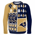 Los Angeles Rams NFL Ugly Sweater Busy Block