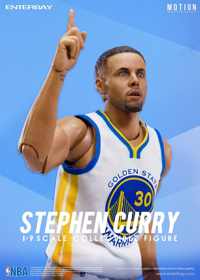 Stephen Curry Golden State Warriors 1 9th Scale 8