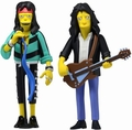 "Steven Tyler & Joe Perry Combo (Aerosmith) The Simpsons 25th Anniversary 5"" Action Figure Series 4 NECA"