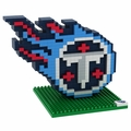 Tennessee Titans NFL 3D Logo BRXLZ Puzzle By Forever Collectibles
