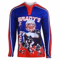 Tom Brady #12 (New England Patriots) NFL Player Poly Hoody