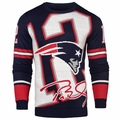 Tom Brady #12 (New England Patriots) NFL Loud Player Sweater By Forever Collectibles