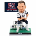 Tom Brady (New England Patriots) 5X Super Bowl Champ Bobble Heads