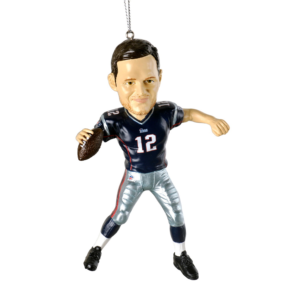 Football player ornament - Tom Brady New England Patriots Forever Collectibles Nfl Player Ornament